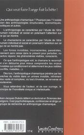 Anthropologie Chamanique - 4ème de couverture - Format classique