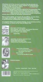 Revue Breves N.78 ; L'Encre Noire Des Amériques - 4ème de couverture - Format classique