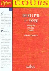 Droit Civil 1e Annee ; 1e Edition - Intérieur - Format classique