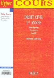 Droit Civil 1e Annee ; 1e Edition - 4ème de couverture - Format classique
