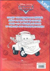 Cars ; mes coloriages avec des stickers - 4ème de couverture - Format classique