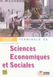 Sciences économiques et sociales ; terminale es ; enseignement obligatoire - Intérieur - Format classique