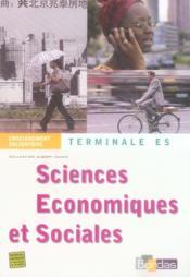 Sciences économiques et sociales ; terminale es ; enseignement obligatoire - Couverture - Format classique