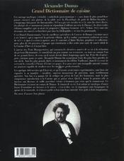 Grand dictionnaire de cuisine - 4ème de couverture - Format classique