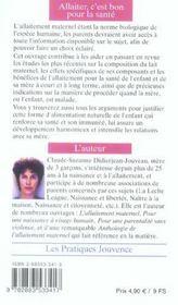 Allaiter, C'Est Bon Pour La Sante N.82 - 4ème de couverture - Format classique
