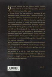 Introduction au cinema au guy debord - 4ème de couverture - Format classique