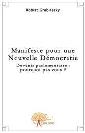 Manifeste pour une nouvelle démocratie - Couverture - Format classique