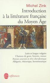 Introduction a la litterature francaise du moyen age - inedit - Intérieur - Format classique