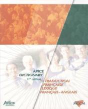 Apics Dictionary - Traduction Francaise -Lexique Francais-Anglais - Couverture - Format classique