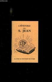 L Evangile Selon S Jean. - Couverture - Format classique