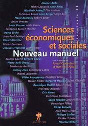 Nouveau Manuel De Sciences Economiques Et Sociales Terminale Es - Intérieur - Format classique
