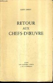 Retour Aux Chefs D'Oeuvre. - Couverture - Format classique