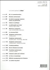 Revue Le Débat N.195 ; le sacre de la bande dessinée - 4ème de couverture - Format classique