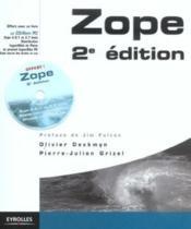 Zope, avec etudes de cas (2e édition) - Couverture - Format classique