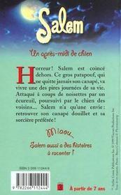 Salem T.5 ; Un Apres Midi De Chien - 4ème de couverture - Format classique
