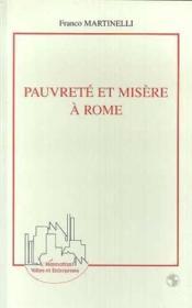 Pauvreté et misère à Rome - Couverture - Format classique