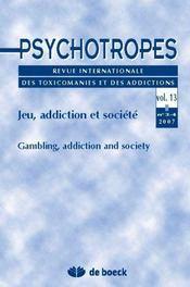 Revue Psychotropes N.13/3 ; Jeu, Addiction Et Société - Intérieur - Format classique