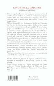 La Voie De La Main Nue - 4ème de couverture - Format classique