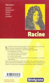 Racine - 4ème de couverture - Format classique
