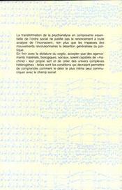 L'Inconscient Machinique - 4ème de couverture - Format classique