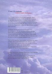 Eau a la maison (l') - 4ème de couverture - Format classique
