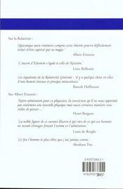 Comprendre la relativité (5e édition) - 4ème de couverture - Format classique