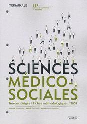 Sciences médico-sociales ; terminale bep - Couverture - Format classique