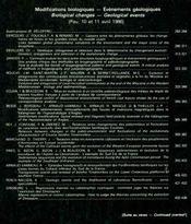 Modifications biologiques, événements géologiques - Intérieur - Format classique