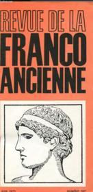 Revue De La Franco Ancienne N°187 - Couverture - Format classique