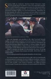 Mon maître, le Rabbi - 4ème de couverture - Format classique