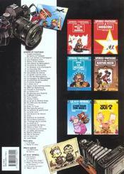 Les aventures de Spirou et Fantasio T.41 ; la vallée des bannis - 4ème de couverture - Format classique