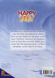 Happy feet ; aventure sur la banquise - 4ème de couverture - Format classique