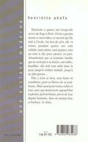 Esclave Moderne - 4ème de couverture - Format classique
