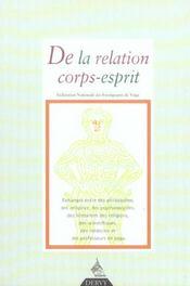 Revue Francaise De Yoga T.29 ; De La Relation Corps-Esprit - Intérieur - Format classique