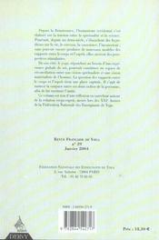 Revue Francaise De Yoga T.29 ; De La Relation Corps-Esprit - 4ème de couverture - Format classique