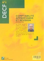 Comptabilite approfondie et revision decf, epreuve n, 6, etude de cas et corriges (1re édition) - 4ème de couverture - Format classique
