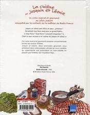 La cuisine de josquin et léonie - 4ème de couverture - Format classique