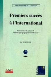 Premiers Succes A L'International - Couverture - Format classique