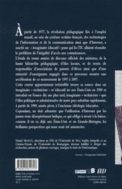 Le numérique éducatif (1977-2009) ; 30 ans d'un imaginaire pédagogique officiel - 4ème de couverture - Format classique
