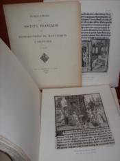 SOCIÉTÉ FRANÇAISE DE REPRODUCTIONS DE MANUSCRITS À PEINTURES, 10ème année (1926). - Couverture - Format classique