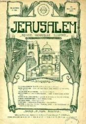 JERUSALEM, 30e ANNEE, N° 184, MARS-AVRIL 1935, REVUE MENSUELLE ILLUSTREE - Couverture - Format classique