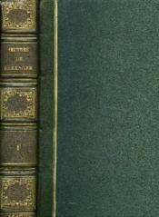 Oeuvres Completes De P. J. De Beranger, Tome I - Couverture - Format classique