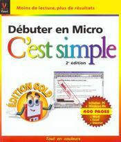 Debuter En Micro C'Est Simple - 4ème de couverture - Format classique