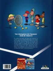 Tennis kids T.2 ; coup de filet - 4ème de couverture - Format classique