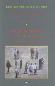 Âge, génération et contrat social - Couverture - Format classique