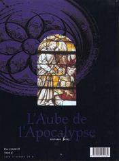 Aube De L'Apocalypse - 4ème de couverture - Format classique