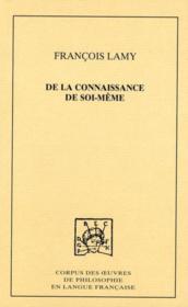 De la connaissance de soi-même t.3 - Couverture - Format classique