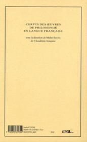 De la connaissance de soi-même t.3 - 4ème de couverture - Format classique
