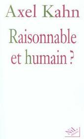 Raisonnable et humain ? - Intérieur - Format classique