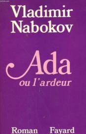 Ada Ou L'Ardeur. - Couverture - Format classique